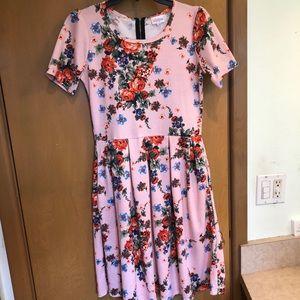 Lularoe Amelia Vintage Dress Floral Small RARE EUC